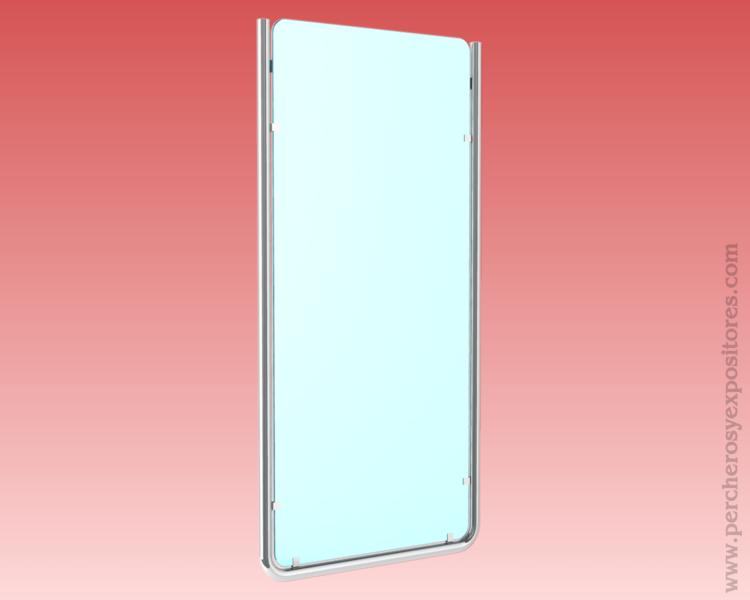 Ref 103021 soporte espejo pared para probadores for Espejo largo pared