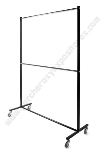 Perchero industrial  2 barras de 150cms modelo ECM-203